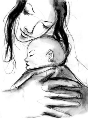 Resultado de imagen para apego dibujo madre e hijo